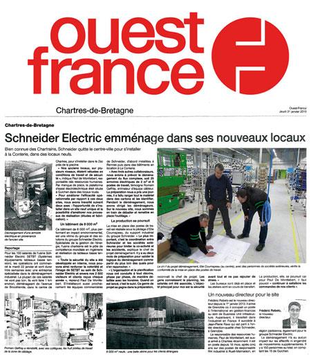 Une usine Schneider Electric transférée en Bretagne