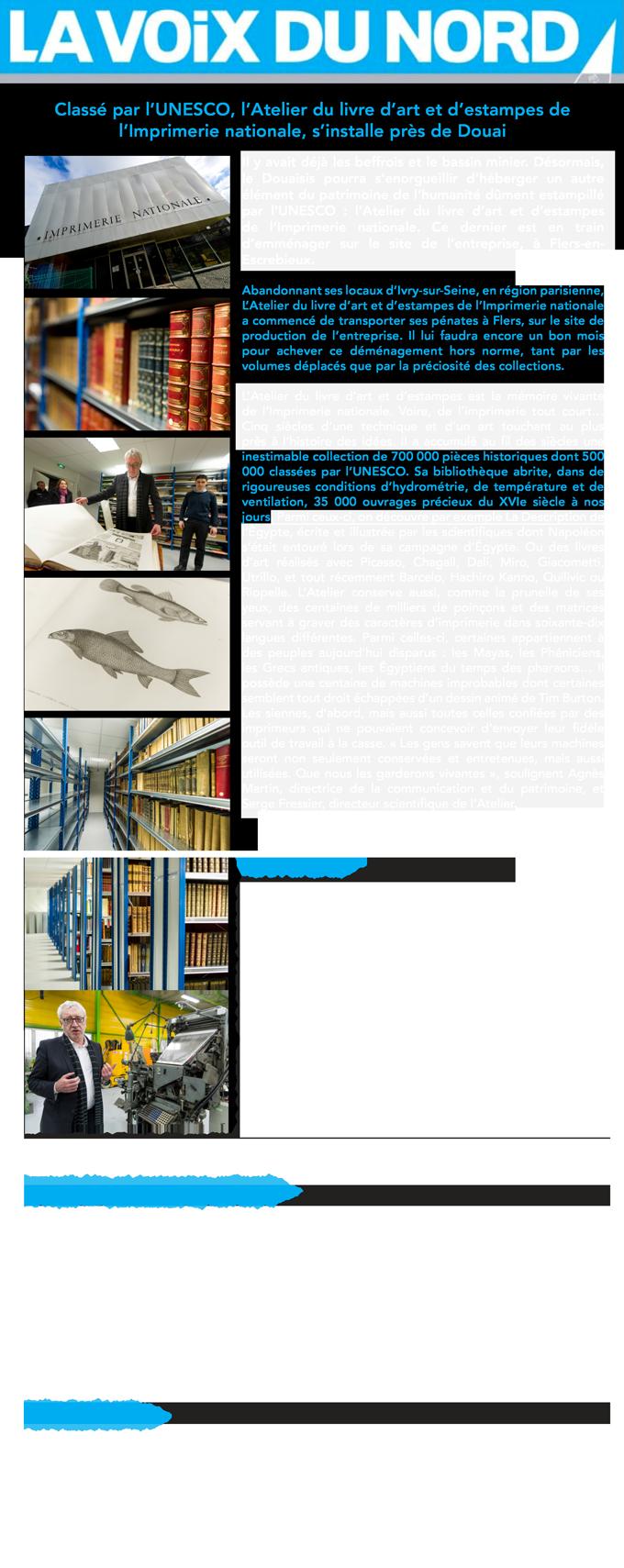 transfert de l'atelier du livre d'art
