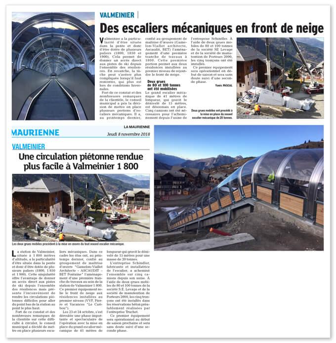 Installation escaliers mecanique en Maurienne Porteurs 2000