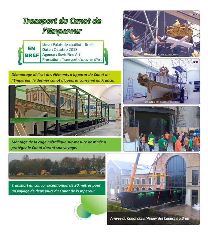 Transport du canot de l'empereur - Groupe BOVIS