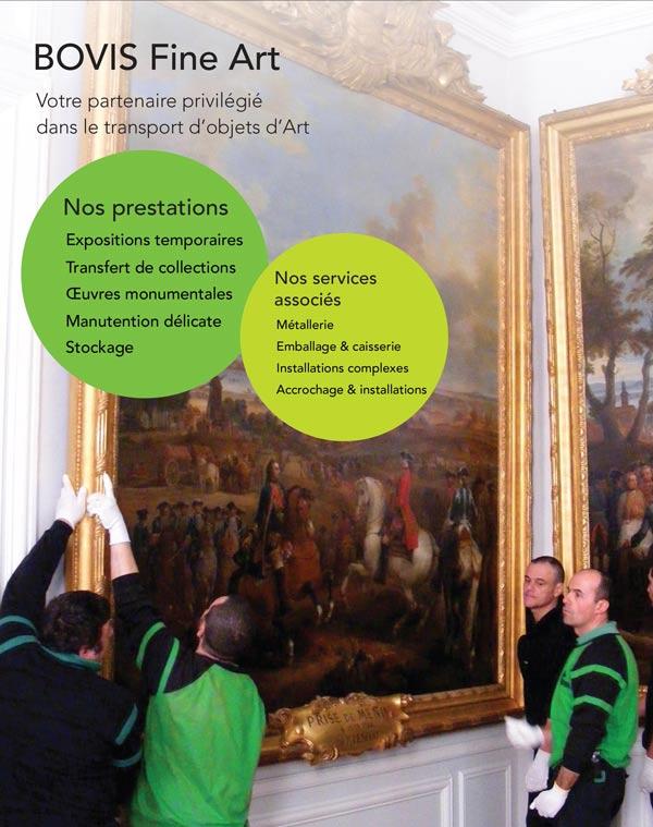 Prestations BOVIS dans le secteur de l'art et des musées
